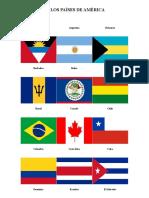 Bandera de Los Países de América