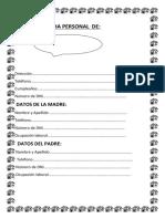 Ficha Personal de Estudiante