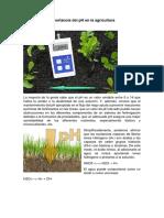 Importancia Del PH en La Agricultura