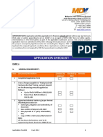 Application Checklist (7 Aug 2012)