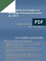 2. Los Sujetos Procesales en El Código Procesal Peruano de 2004.