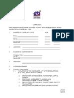 40 NCR-SF050 - Complaint Form
