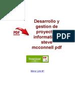 Desarrollo y Gestion de Proyectos Informaticos Steve Mcconnell PDF