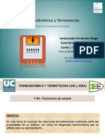 Termodinámica y Termotécnia Funciones de Estado