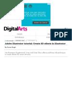 Adobe Illustrator Tutorial_ Create 3D Effects in Illustrator - Digital Arts