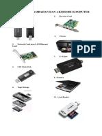 Peralatan Tambahan Dan Aksesori Komputer