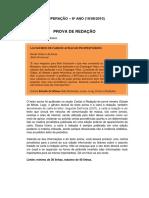 Prova de Redação - Retextualização de Carta à Redação Para Notícia