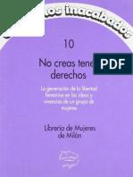 Libreria de Mujeres de Milan - No Creas Tener Derechos