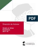 Direccion Actores