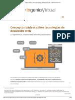 Conceptos Básicos Sobre Tecnologías de Desarrollo Web - Ingeniovirtual.com