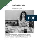 Carta de Frnak Zappa a Edgar Varesse
