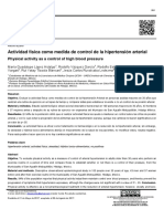 Actividad Física Como Medida de Control de La Hipertensión Arterial