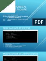 Modificaciones Al Programa ALQUIPC