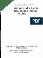 Restauración de Retablo Mayor de La Iglesia de San Sebastián de Lima
