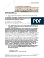 edtpa elementary mathematics - assessment commentary