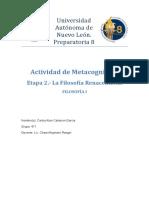 filofía- Metacognición- E2