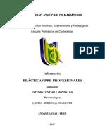Margoth - Informe de Prácticas Pre-profesionales Ultio