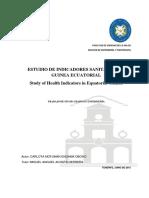 Estudio de Los Indicadores Sanitarios de Guinea Ecuatorial.
