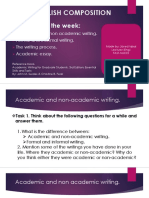 Academic vs Non-Academic Ariting-essay Process