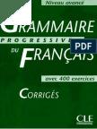Boulares M. - Grammaire Progressive Du Francais (Avance) Corrige - 2003