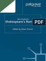 Alison Thorne Shakespeare s Romances New Casebooks Palgrave Macmillan Firm . 2003 Palgrave Macmillan
