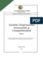 Gestión Empresarial Innovación y Competitividad