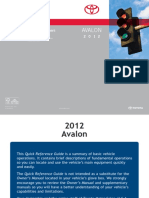 2012 Avalon