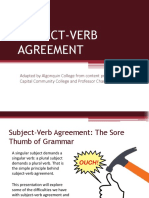 GTGUS Subject Verb Agreement