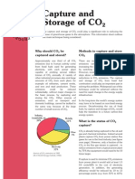 Capture and Storage of CO2