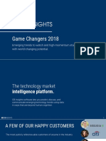 CB Insights Game Changers 2018