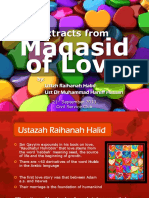 Maqasid of Love (in Slides)