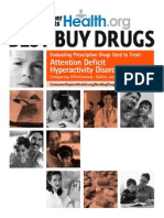 AHDHD and TX Drugs - Consumer Reports
