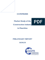 Market Study of the Construction Industry in Mauritius - CCM Preliminary Report