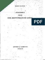 Avicenna Und Die Aristotelische Linke