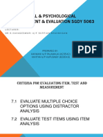 Educational & Psychological Measurement & Evaluation Sgdy 5063
