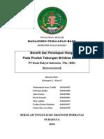 Makalah Manajemen Pemasaran Bank Tentang Benefit dan Penetapan Harga  Pada Produk Tabungan BritAma Bisnis PT Bank Rakyat Indonesia, Tbk. (BRI)