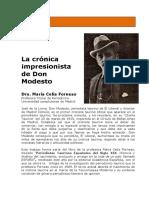 Ensayo La Cronica Impresionista de Don Modesto