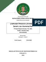 Makalah Manajemen Pemasaran Bank Tentang Lingkungan Pemasaran, Strategi STP,  Benefit, dan Marketing Plan PT Bank Rakyat Indonesia, Tbk. (BRI) Produk