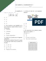 Prueba Saber No. 4 (Matemáticas 7)