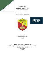 MAKALAH MALAIKAT