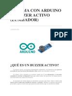 Alarma Con Arduino y Buzzer Activo