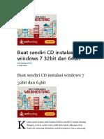 #Buat Sendiri CD Instalasi Windows 7 32bit Dan 64bit