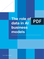 The role of data in AI business models