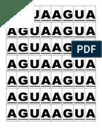 Letras Mobiles Palabra Agua