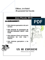 Jocs Florals 2018