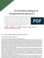Chapitre 6 Comment Expliquer Le Comportement Électoral 2018