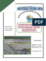 Estimación de  Riesgo por desborde del rió Azangaro- Puno