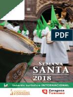 Itinerarios de la Semana Santa de Zaragoza 2018