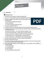 Oral Practise & Oral Test English F3