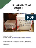 20 KW VHF Power AmplifierGU36